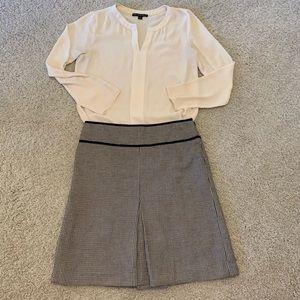 LOFT - A-line skirt basket weave pattern
